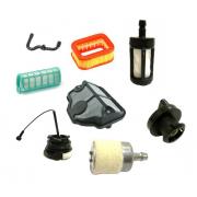 Фильтры топливные и воздушные, пробки бензобака